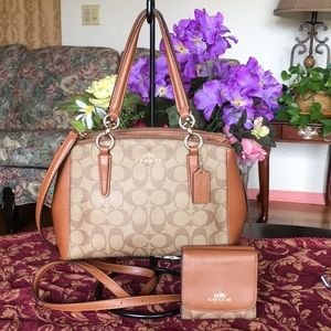 Coach Mini Christie Signature carryall & wallet